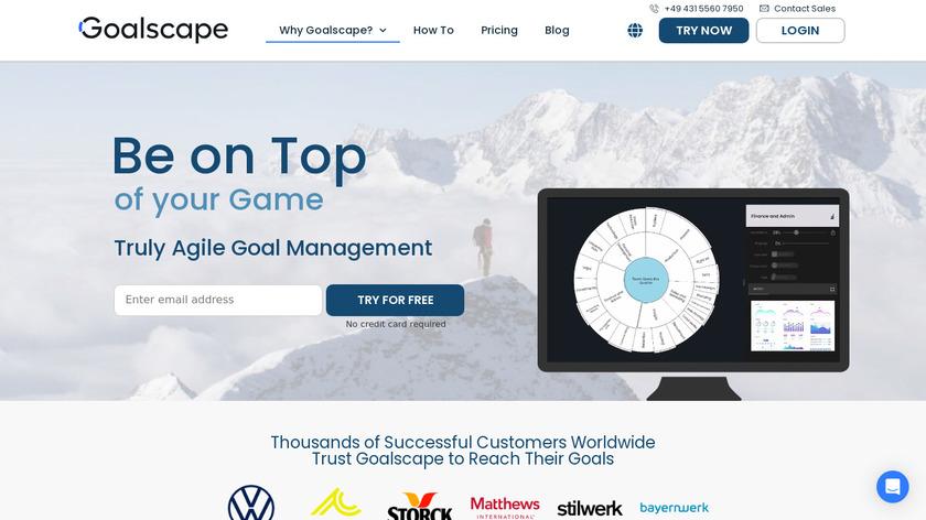 Goalscape Landing Page