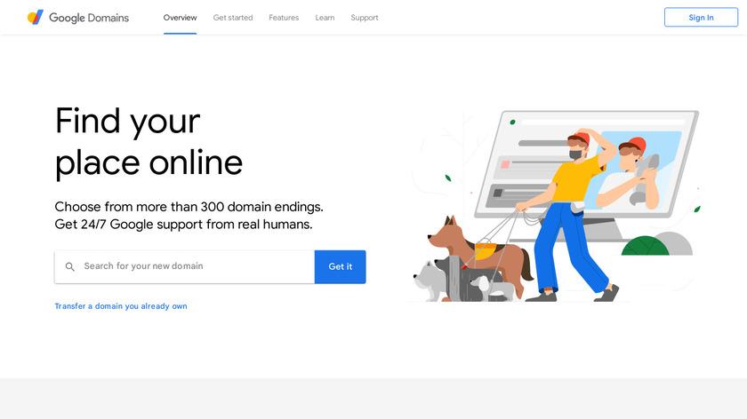 Google Domains Landing Page