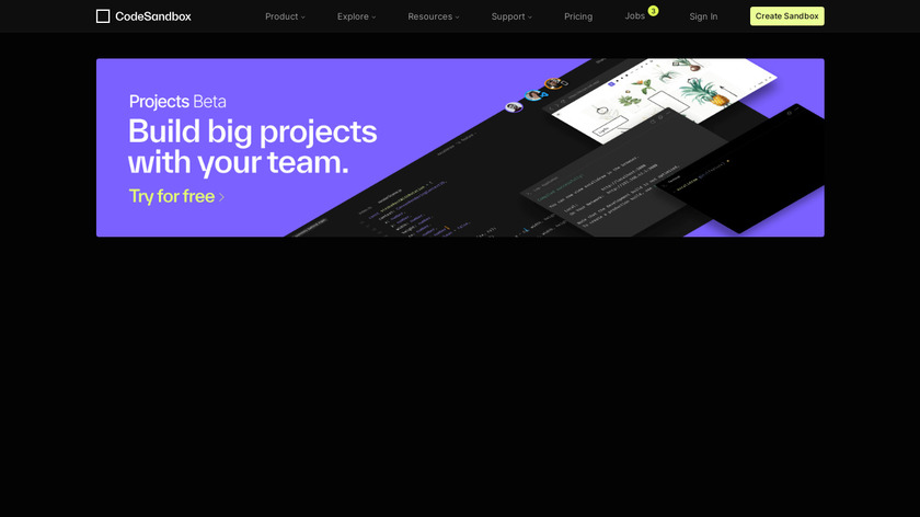 CodeSandbox Landing Page