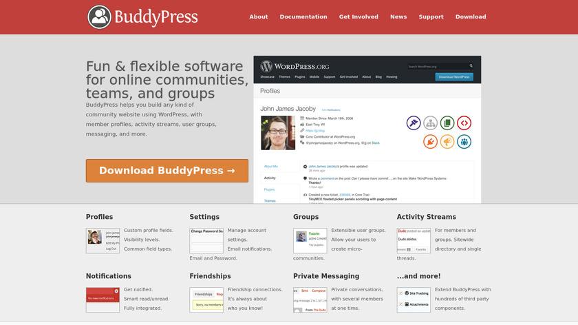BuddyPress Landing Page