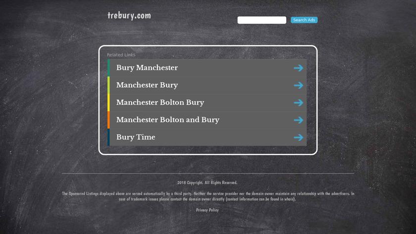 Trebury Landing Page