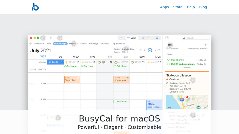 BusyCal Landing Page