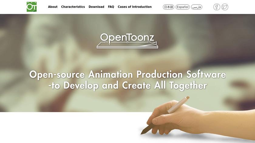 OpenToonz Landing Page