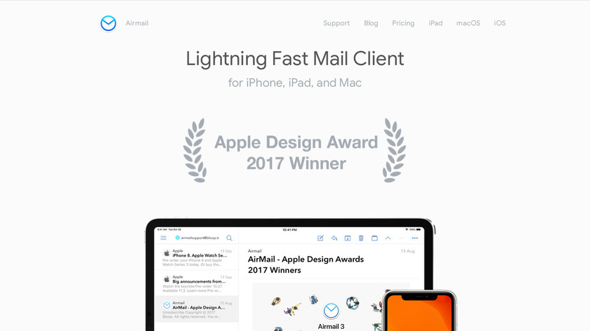 Airmail Landing Page
