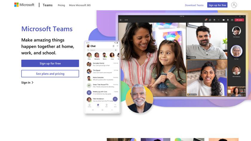 Microsoft Teams Landing Page