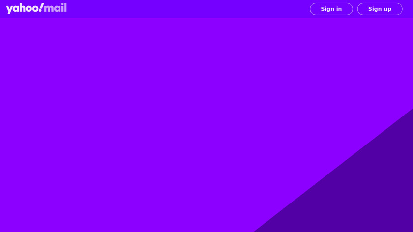 Yahoo Mail Landing Page