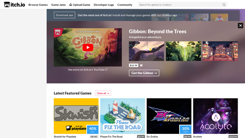 itch.io Landing Page