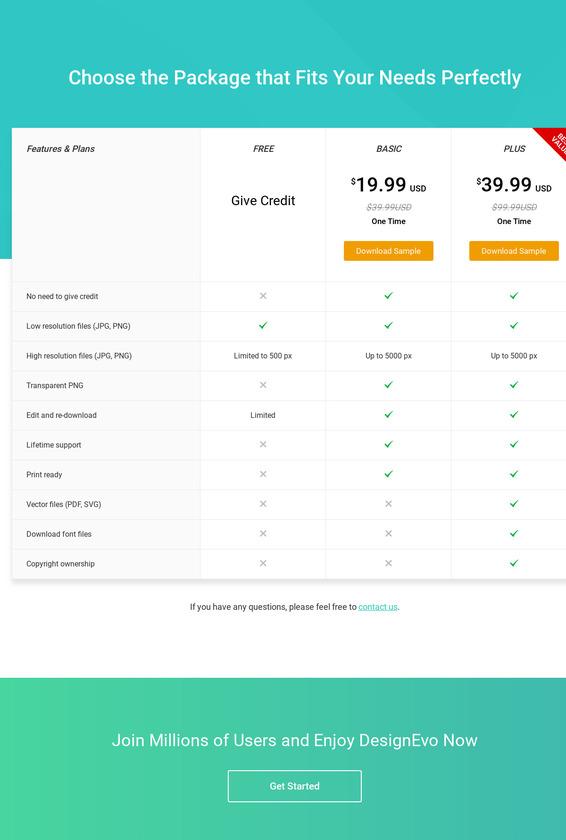 DesignEvo Logo Maker Pricing