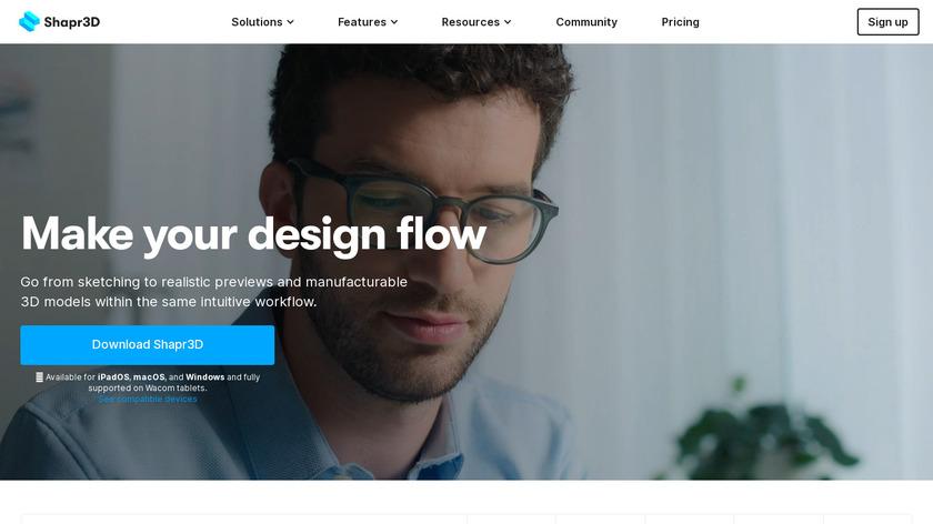 Shapr3D Landing Page