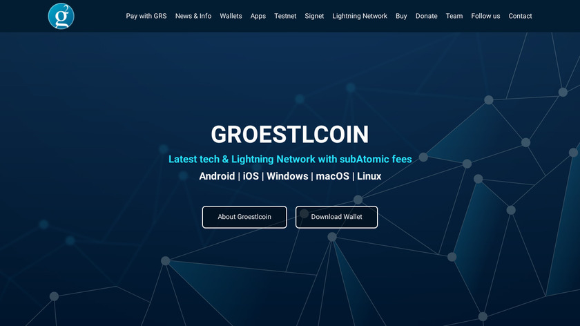 Groestlcoin Landing Page
