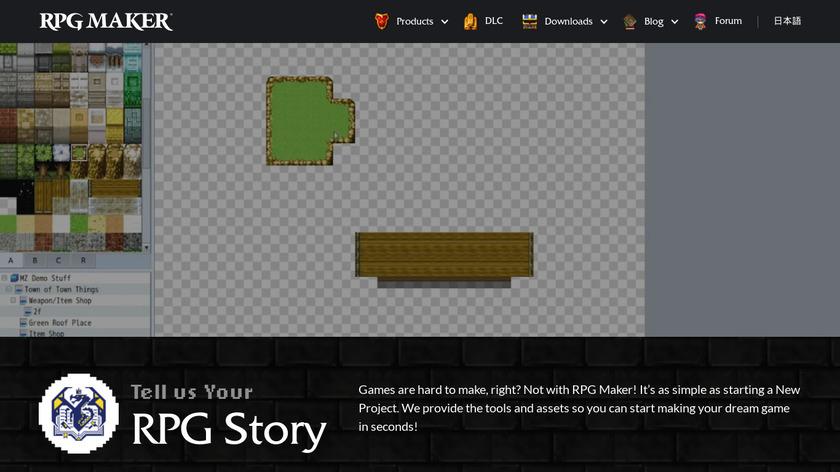 RPG Maker Landing Page