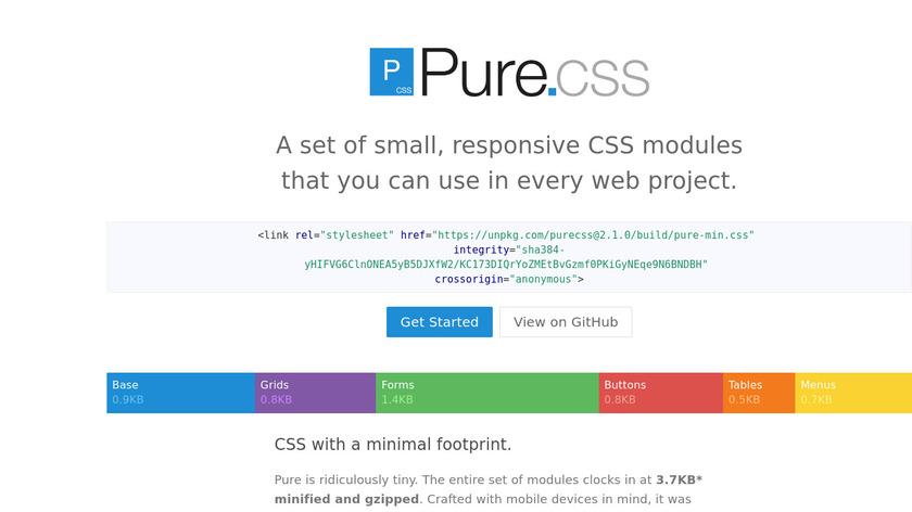 Purecss Landing Page