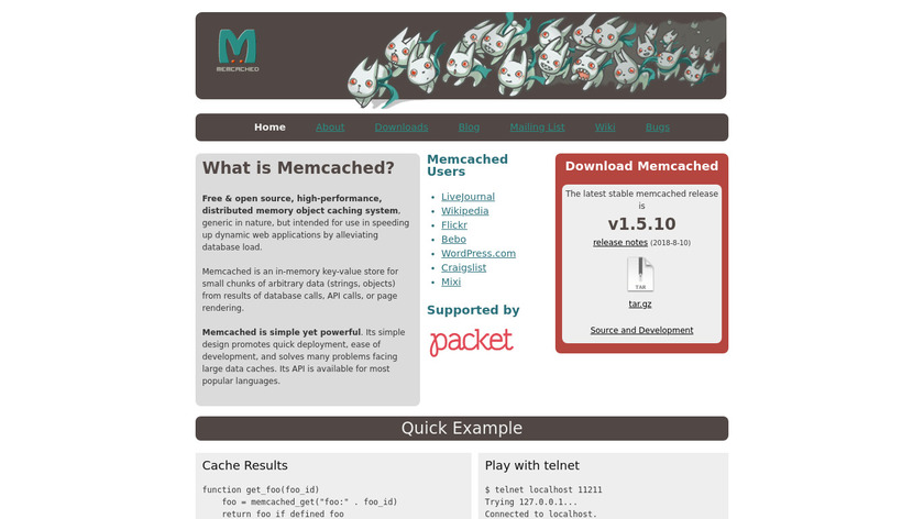 memcached Landing Page