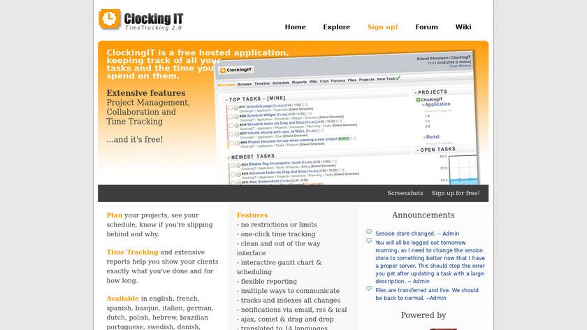 ClockingIT Landing Page