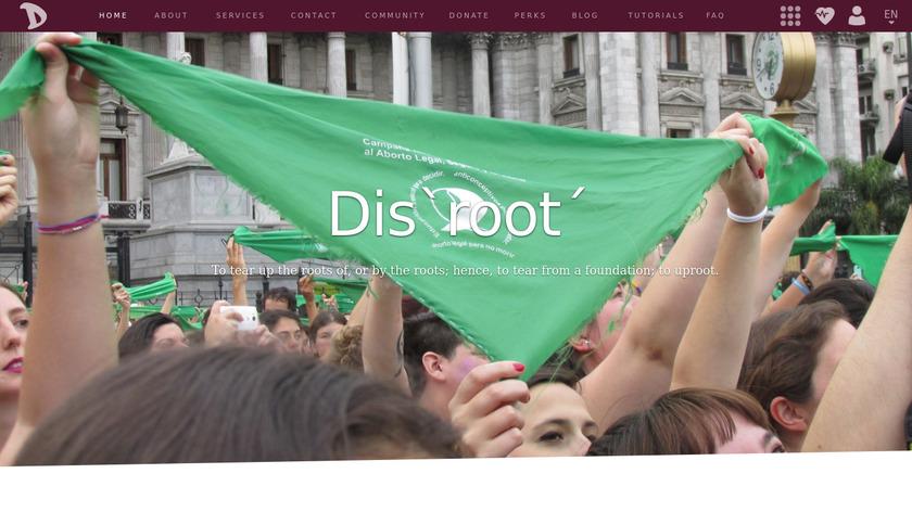 Disroot Landing Page