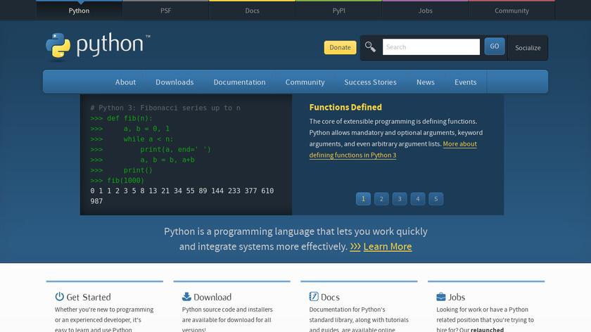 Python Landing Page