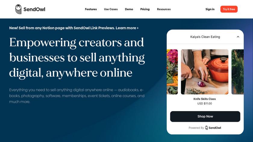 SendOwl Landing Page