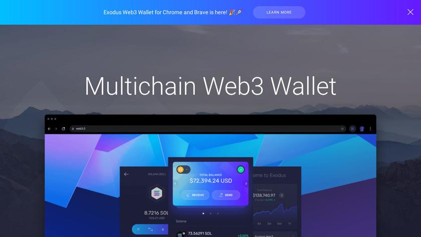 Exodus.io Landing Page