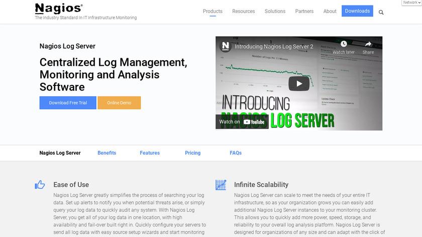Nagios Log Server Landing Page