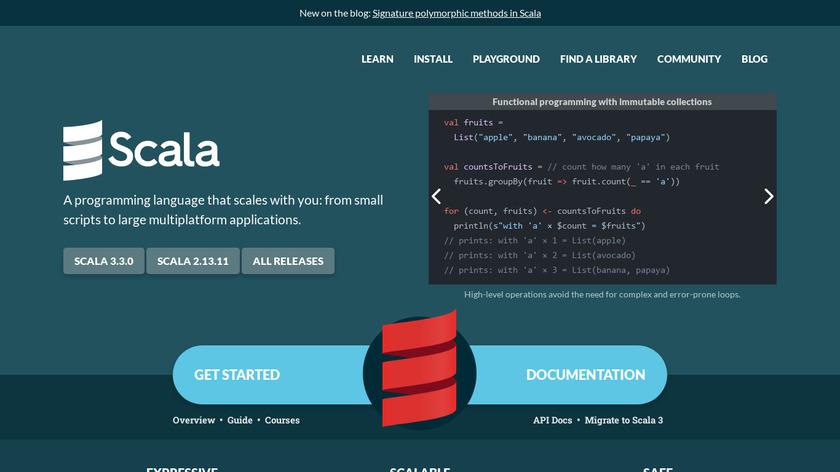 Scala Lang Landing Page