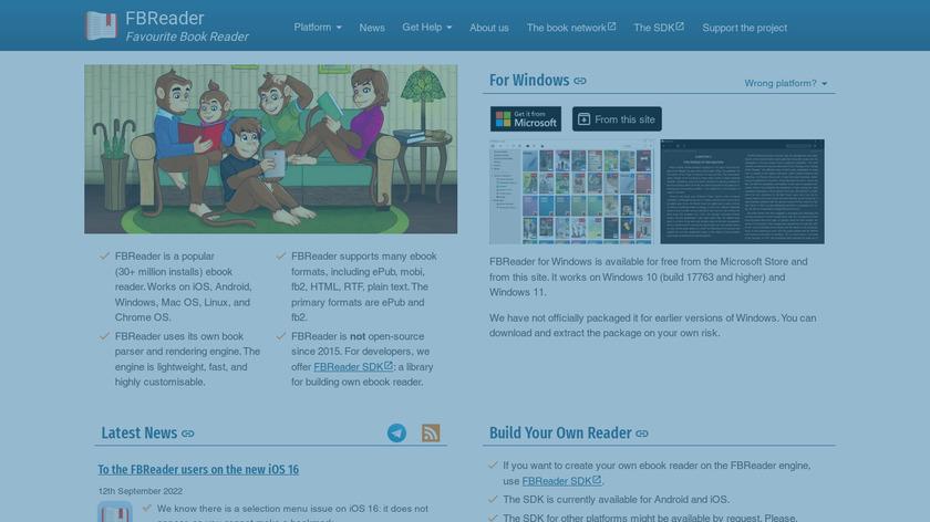 FBReader Landing Page