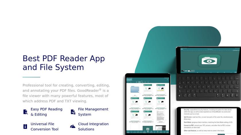 GoodReader Landing Page