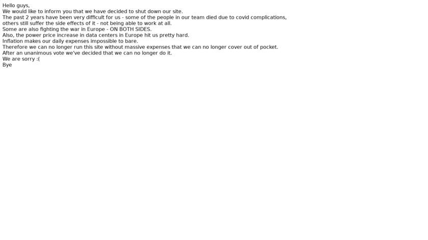 RARBG Landing Page