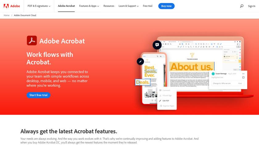 Adobe Acrobat DC Landing Page