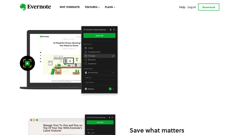 Evernote Web Clipper Landing Page