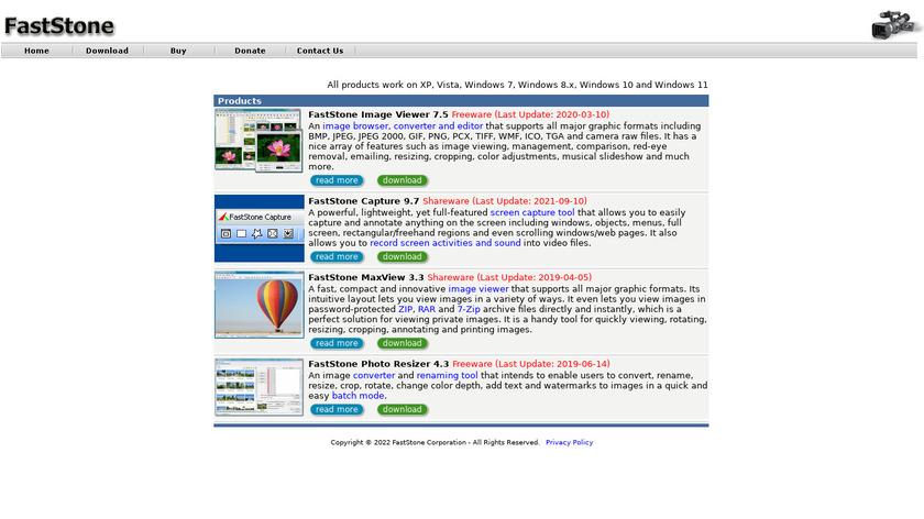 FastStone Image Viewer Landing Page