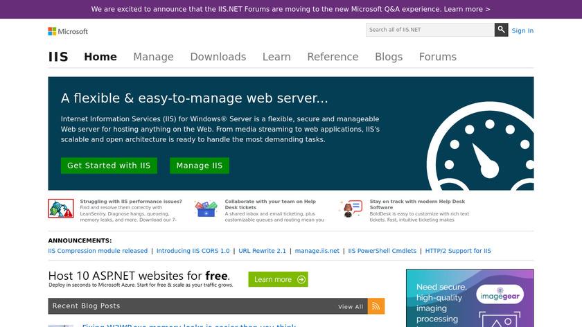 Microsoft IIS Landing Page