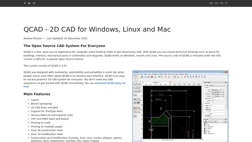 QCAD Landing Page