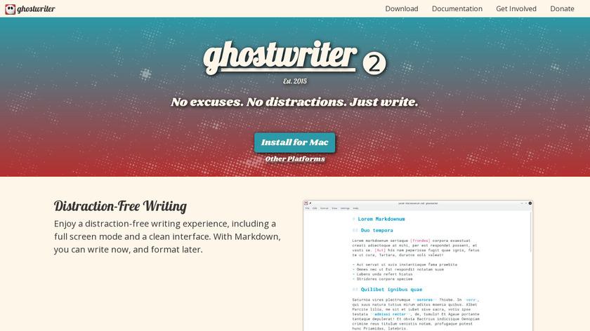 ghostwriter Landing Page