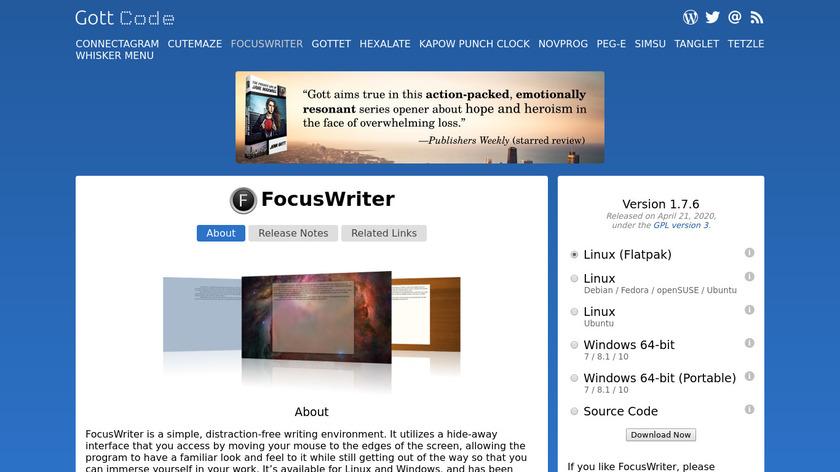 FocusWriter Landing Page