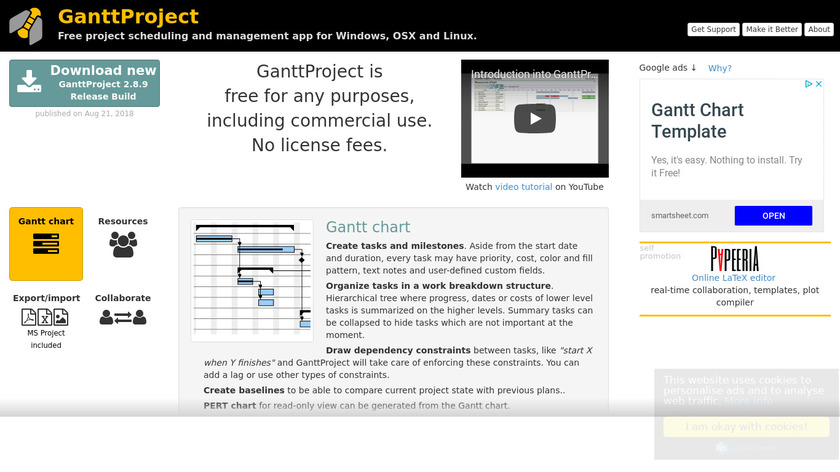 GanttProject Landing Page