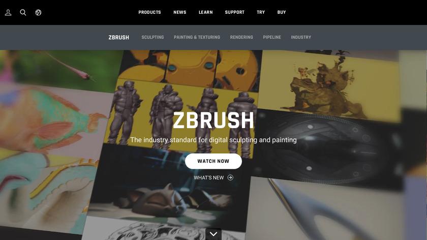 ZBrush Landing Page