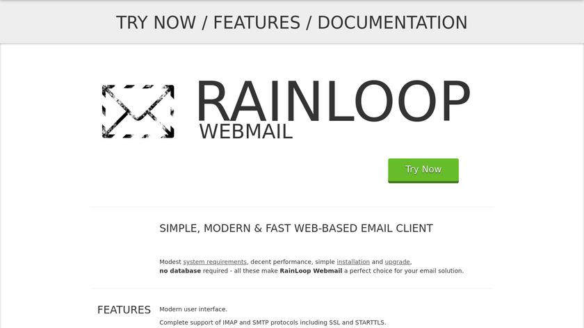 Rainloop Landing Page