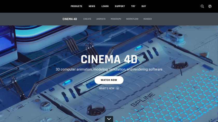 Cinema 4D Landing Page