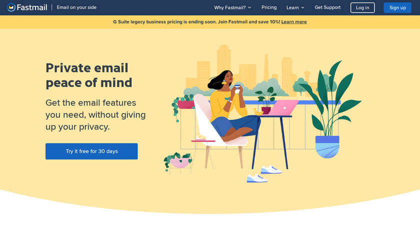 FastMail Landing Page