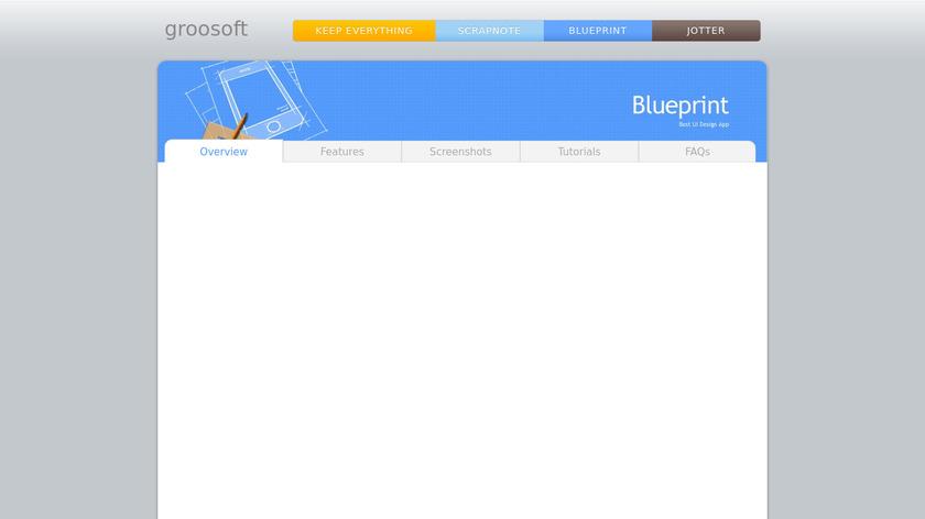 BluePrint UI design Landing Page