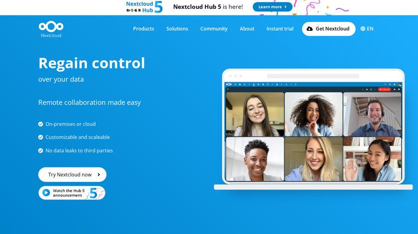 Nextcloud Landing Page