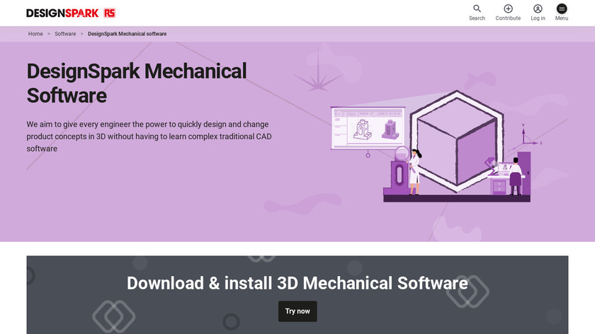Designspark Mechanical Landing Page