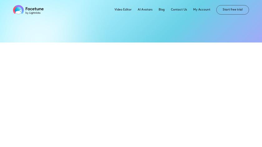 Facetune Landing Page