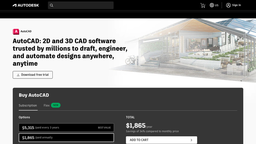 Autodesk AutoCAD Landing Page