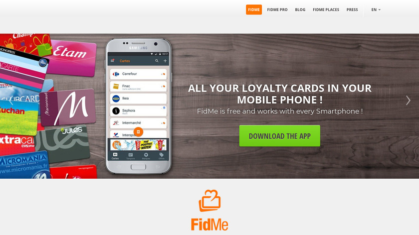 FidMe Landing Page