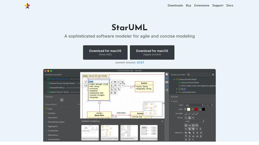 StarUML Landing Page