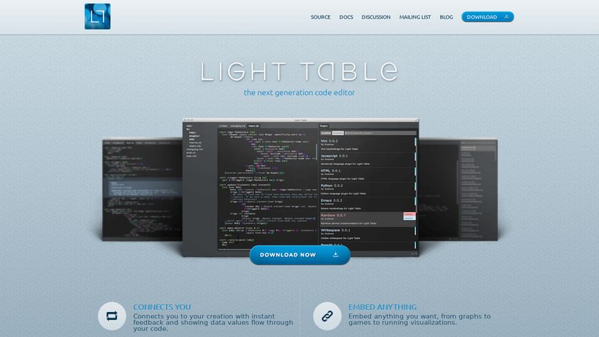 Light Table Landing Page