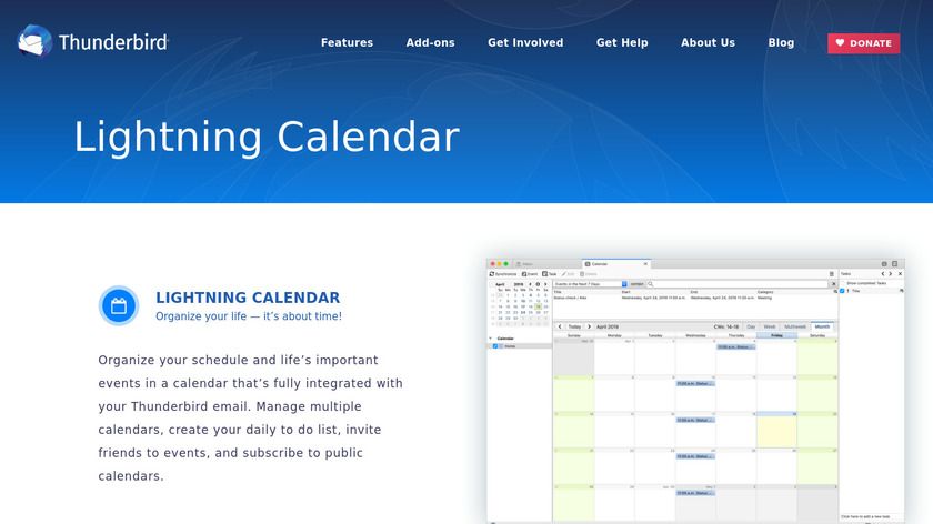 Lightning Calendar Landing Page
