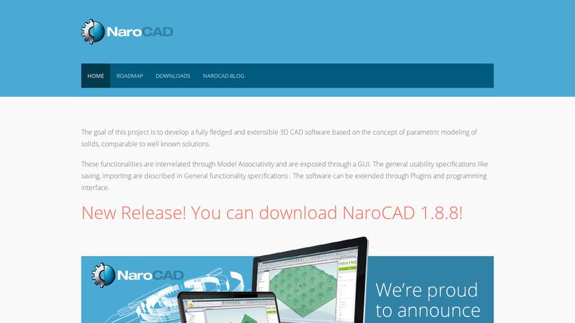 NaroCAD Landing Page