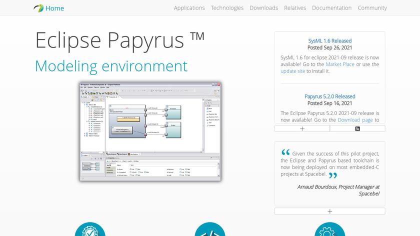Eclipse Papyrus Landing Page
